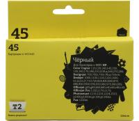 Картридж T2 ic-h51645 (№45) (Чёрный) для HP DJ 1000cse/1220C/6122/6127/9300, OJ g55/g85/k60/k80/r40/r60/r80