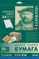 Самоклеящаяся бумага LOMOND универсальная для этикеток, A4, 24 делен. (64 x 33,4 мм), 70 г/м2, 50 листов