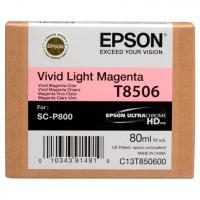 Картридж EPSON T8506 светло-пурпурный для SC-P800