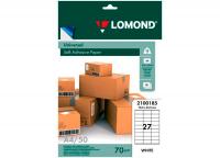Самоклеящаяся бумага LOMOND универсальная для этикеток, A4, 27 делен. (70 x 32 мм), 70 г/м2, 50 листов