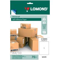 Самоклеящаяся бумага LOMOND универсальная для этикеток, матовая, неделенная A4, 70 г/м2, 50 листов