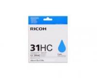 Оригинальный принт-картридж Ricoh тип GC 31HC (4890 стр., голубой)