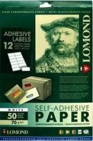 Самоклеящаяся бумага LOMOND универсальная для этикеток, A4, 12 делен. (D60мм), 70 г/м2, 50 листов