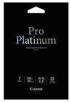 Фотобумага CANON Pro Platinum Профессиональная глянцевая, 300г/м2, A6, 20 л.