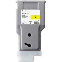 Оригинальный картридж CANON PFI-207Y (300 мл., желтый)