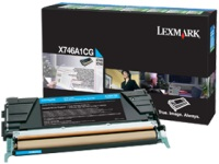 Картридж Lexmark X746A1CG(голубой, 7000 стр.)