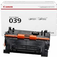 Картридж CANON 039 BK 11К