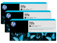 Оригинальный картридж HP B6Y31A 3-Pack (775 мл., черный матовый)