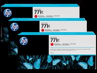 Оригинальный картридж HP B6Y32A 3-Pack (771) (775 мл., красный хром)