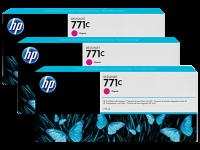 Оригинальный картридж HP B6Y33A 3-Pack (771) (775 мл., пурпурный)