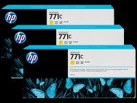 Оригинальный картридж HP B6Y34A 3-Pack (771) (775 мл., желтый)