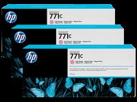 Оригинальный картридж HP B6Y36A 3-Pack (775 мл., светло-голубой)