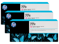 Оригинальный картридж HP B6Y36A 3-Pack (771) (775 мл., светло-голубой)