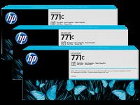 Оригинальный картридж HP B6Y37A 3-Pack (771) (775 мл., черный фото)