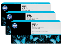 Оригинальный картридж HP B6Y38A 3-Pack (775 мл., светло-серый)