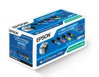 Комплект оригинальных картриджей EPSON C13S050268 (4000 стр., черный/ 1500 стр., пурпурный, голубой, желтый)