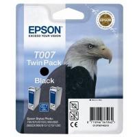 Оригинальный картридж EPSON T007 Twin Pack (2 * 540 стр., черный)