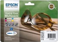 Комплект оригинальных картриджей EPSON T0432 (29 мл./13 мл., черный + голубой + пурпурный + желтый)