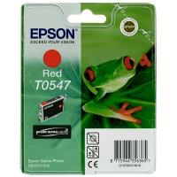 Оригинальный картридж EPSON T0547 (400 стр., красный)