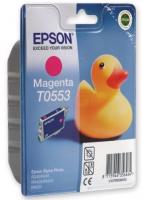 Оригинальный струйный картридж EPSON T0553( пурпурный)