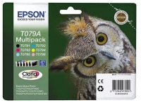 Набор оригинальных картриджей EPSON T079A Multipack (250 стр., черный + голубой + пурпурный + желтый + светло-голубой + светло-пурпурный)