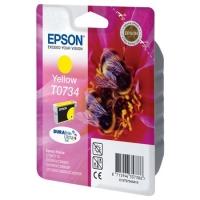 Оригинальный картридж EPSON T0734 (430 стр., желтый)