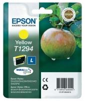 Оригинальный картридж EPSON T1294 (600 стр., желтый)