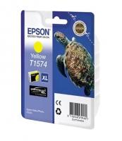 Оригинальный картридж EPSON T1574 (26 мл., желтый)