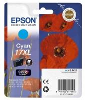 Оригинальный картридж EPSON 17XL (450 стр., голубой)