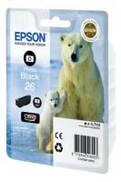 Оригинальный картридж EPSON 26 (200 стр., черный фото)