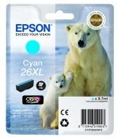 Оригинальный картридж EPSON 26XL (700 стр., голубой)