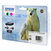 Комплект оригинальных картриджей EPSON 26XL (400 стр., черный + голубой + пурпурный + желтый)