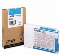Оригинальный картридж EPSON T6052 (110 мл., голубой)