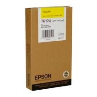 Оригинальный картридж EPSON T6124 (220 мл., желтый)