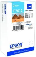 Оригинальный картридж EPSON T7012 (3400 стр., голубой)
