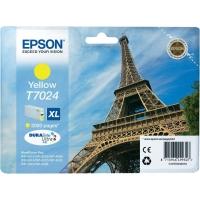 Оригинальный картридж EPSON T7024 (2000 стр., желтый)