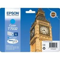 Оригинальный картридж EPSON T7032 (800 стр., голубой)