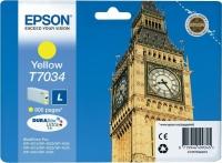 Оригинальный картридж EPSON T7034 (800 стр., желтый)