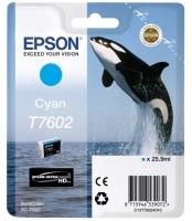 Оригинальный картридж EPSON T7602 (26 мл., голубой)