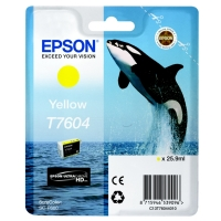 Оригинальный картридж EPSON T7604 (26 мл., желтый)