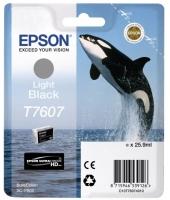 Оригинальный картридж EPSON T7607 (26 мл., светло-серый)