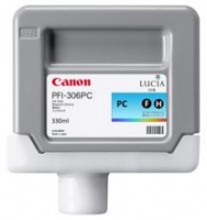 Оригинальный картридж CANON PFI-306PC (130 мл., голубой фото)