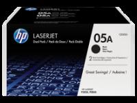 Оригинальный картридж HP CE505D (2 * 2300 стр., черный)
