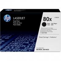 Оригинальный картридж HP CF280XF (80X) (черный, 2 X 6900 стр.)