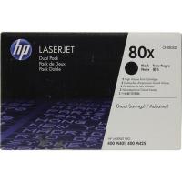 (Уценка)Картридж HP 80X CF280XD/XF - НТВ-1 для LaserJet Pro M401,MFP M425 Twin Pack  черный  (2 * 6 900 стр.