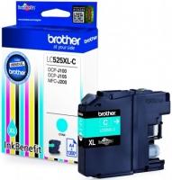 Оригинальный картридж BROTHER LC525XLC (1200 стр., голубой)