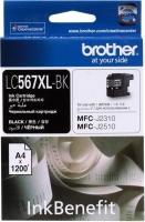 Оригинальный картридж BROTHER LC567XLBK (1200 стр., черный)