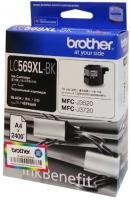 Оригинальный картридж BROTHER LC569XLBK (2400 стр., черный)