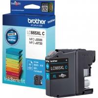 Оригинальный картридж BROTHER LC665XLC (1200 стр., голубой)