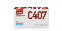 Картридж EasyPrint Samsung CLT-C407S (LS-C407) (1000 стр., голубой) с чипом